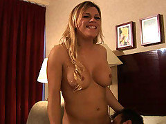 This sexy blonde ladyboy had an eagle eye for sexy hunks and she was definitely gonna bury her mystery meat in Mike's confused ass! Watch Jesse turn the tables on another straight stud in this one!