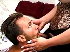 Tranny fucks guy in mouth