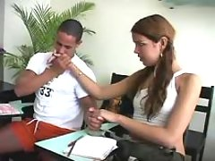 Shemale seduces her fellow student