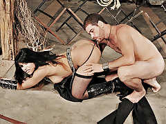 Shemale hottie Marina Almeida gets captured in this new scene and taken to the edge by her master. Watch as this submissive bound shemale obeys every command she is given. She gets deep throated until she is gagging and ass fucked until she is screaming in pain!
